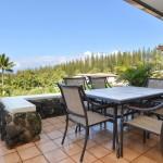 Dining on the Lanai at the Kapalua Golf Villas 2 Bedroom