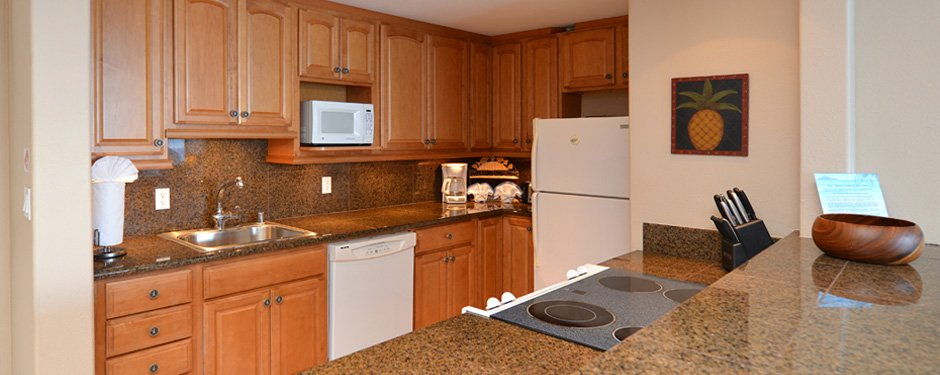 Kitchen in the Valley Isle Resort 1 Bedroom