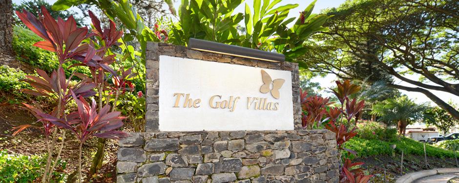 Kapalua Golf Villas Sign at the Kapalua Golf Villas
